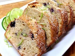 Blueberry, lime, ginger bread